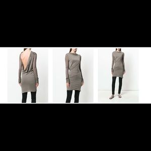 NWT Rick Owens Lilies Open back tunic. Size 4